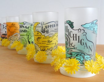 Vintage Plastic Coasters • Whimsical Summer Coasters • Beverage Coasters with Yellow Flowers
