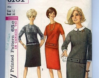 REDUCED 60s Pattern Vintage MOD Scooter Dress Simplicity 6161