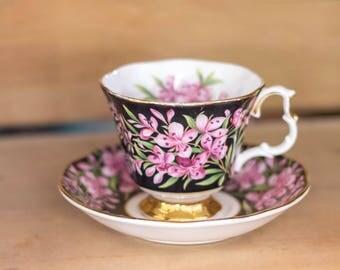 Royal Albert Provincial Flowers Tea Cup and Saucer Set Vintage Floral