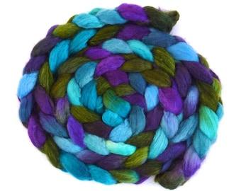 Quilter's Magic, BFL/Silk Roving - Handpainted Spinning or Felting Fiber