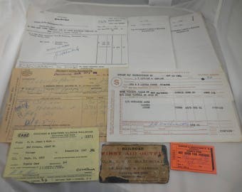 Vintage Lot of Railroad Memorabilia