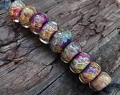 Lampwork Glass Frit Beads Set