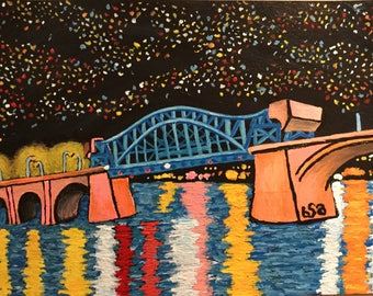 Chattanooga's Market Street Bridge Original Painting