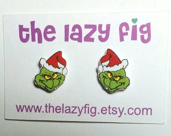 The Grinch - How The Grinch Stole Christmas - stud earrings