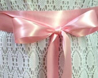 Pink Satin Ribbon - Ribbon - Double Face Satin Ribbon - Satin Ribbon - Pink Ribbon - Pink Ribbon Sash - Flower Girl - Bridesmaid