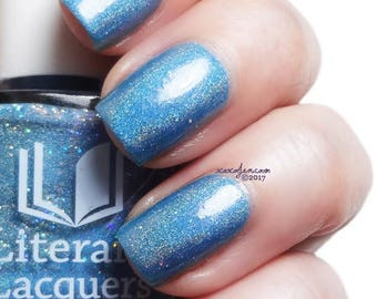 Lettie's Ocean - Soft Turquoise Holographic Nail Polish