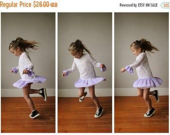 ON SALE 1970s Lavender Dot Drop Dress~Size 5t