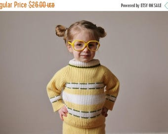 ANNIVERSARY SALE 1950s Spring Knit Set~Size 2t