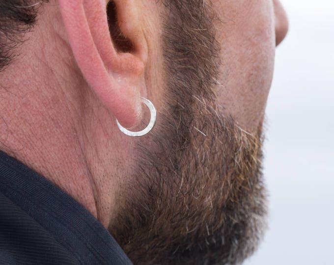 Sterling Silver Hoop Earrings, 14x2mm