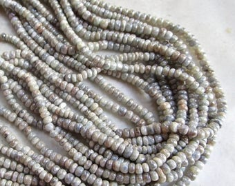 SALE 20% Off Mystic Silverite Rondelle Beads 3mm, Natural Silver White gemstone Look Of Diamonds,