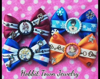 Fairy Tail Lucy Natsu Grey Erza Anime Hair Bows