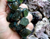Moldavite ring | Rough moldavite ring | Raw moldavite ring | Tektite jewelry | Healing jewelry