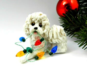Bolognese Christmas Ornament Figurine with lights Porcelain