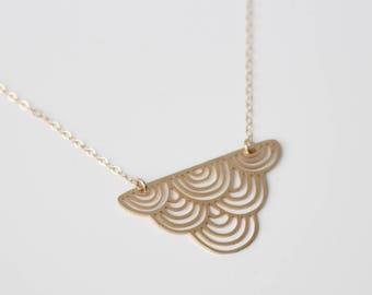 Striped Cloud Necklace | Medium | ATL-N-131
