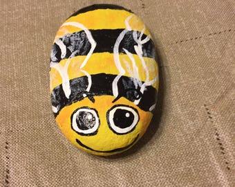 CUTE Bee painted rock