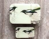 Magpie tin SMALL, Notions tin, treasure box, jewellery box