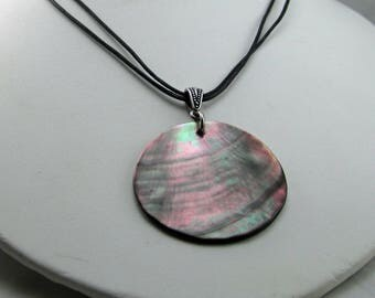 Shell and Leather Cord Necklace
