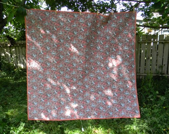 Pink with Gray Cozy Comfortable Quilt