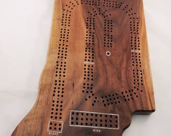 Indiana State Shaped Cribbage  Boards