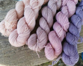My Nana's Tea Party - 1250 yard gradient - Merino/Silk Lace Weight