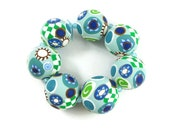 Star of David Handmade Polymer Clay Beads Graduated Sizes Round Bead Supplies Jewelry Making Jewish Jewelry Beads Components