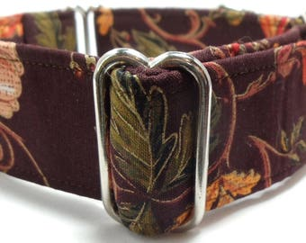 Fall Paisley Greyhound, Whippet, Dog, Pit Bull, Doberman, Galgo Martingale Collar