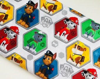 Paw Patrol To The Rescue Cotton Woven fabric by the yard