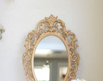 "26x32"" Stunning antique gold ornate metal mirror. Blank or Custom painted Wedding Welcome, Seating Chart, Vows, Program, Menu, timeline,"