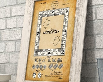 Monopoly Board Game - 11x14 Unframed Patent Print