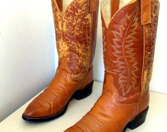 Vintage Distressed Texas brand cowboy boots mens size 11 D