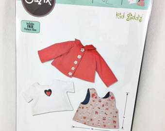 "Kid Giddy Sizzix 18"" Doll Apparel Top Die"