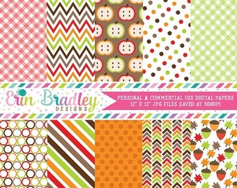80% OFF SALE Fall Digital Paper Pack Commercial Use Instant Download