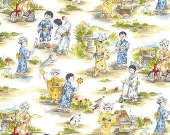 Children's Fabric, Michael Miller Asian Retro Children 44-45 inches wide cotton fabric