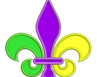 SALE 65% OFF Applique Fleur De Lis Mardi Gras Machine Embroidery Designs Instant Download Sale 4x4 and 5x7