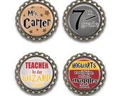 Personalized Potter Fan Themed Teacher Gift - Magnet Set, Teacher Appreciation, Thank You Gift, End of the Year Gift, Booklover
