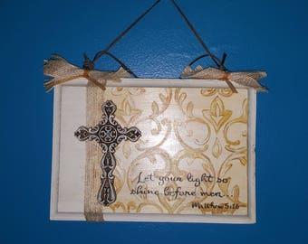 Add a Name 5 x 7 inch scripture plaque