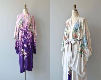 Iwasaki silk wrapper   vintage 1920s silk robe   reversible 20s silk kimono