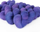 TONAL: ULTRAVIOLET 463 yards on 'Posh' Sock Yarn/ 4 ply merino, kettle dyed tonal yarn