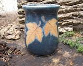 Red Maple Leaf Mug 15 oz.,handmade pottery mug,  leaf mug, ceramic mug, favorite mug