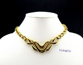 Napier Collar Necklace Gold tone