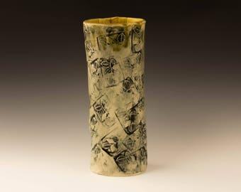 Handmade Cylindrical Flower Vase