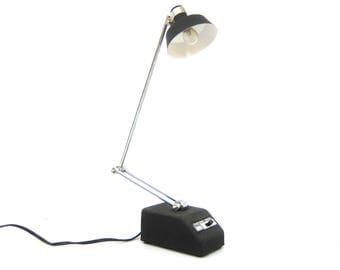 Mid Century Modern Mobilite Black Task Lamp High Intensity Office Desk Light Articulating Adjustable Retro Work Light Transformer Powered