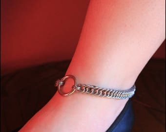 Fetish Bondage Anklet Stainless Steel Half Persian BDSM Chainmail