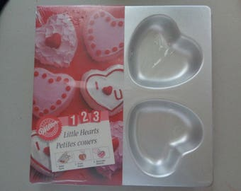 Wilton Hearts Cake Pan Little Hearts Petites Couers NEW in Package Vintage 1994