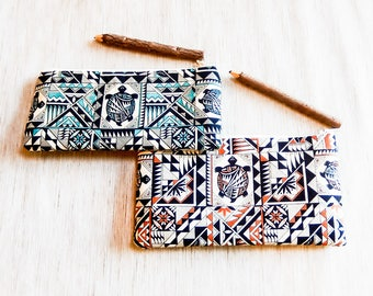 Pencil Case/ Gift for Her/ Southwestern Gift for Women/ Christmas Gift/ Gift for Mom/ Gift for Wife/ Make up Bag/ Coworker Gift/ BFF Gift