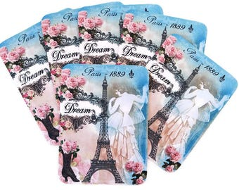 Note Cards, Eiffel Tower Dream Note Cards, Blank Note Cards, Paris Note Cards, Retro Birthday Cards, Bridal Shabby Vintage, French Tea Party