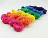 Rainbow Mini Set - Jest SW Merino/Nylon Sock - Loud and Proud - Choose Your Yardage