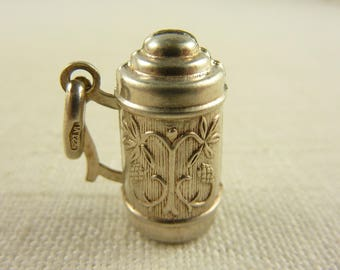 Vintage Sterling Thermos Charm or Pendant