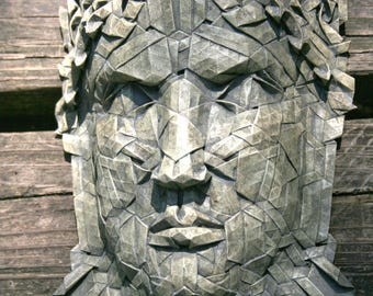 Constantine - origami sculpture with a look of stone