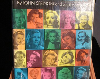 They Had Faces Then: Annabella to Zorina, the Superstars, Stars and Starlets of the 1930's   Vintage Book 1974